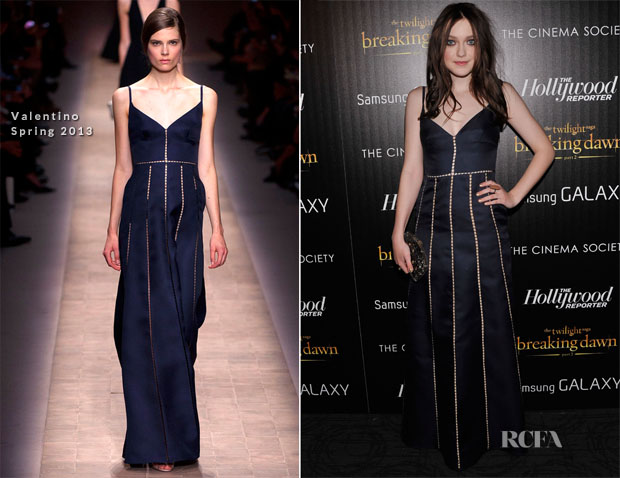 Dakota Fanning In Valentino -  'The Twilight Saga Breaking Dawn Part 2′ New York Premiere