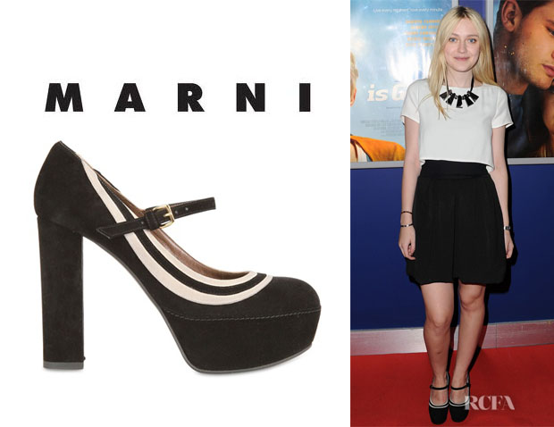 Dakota Fanning's Marni Mary Jane Platform Pumps