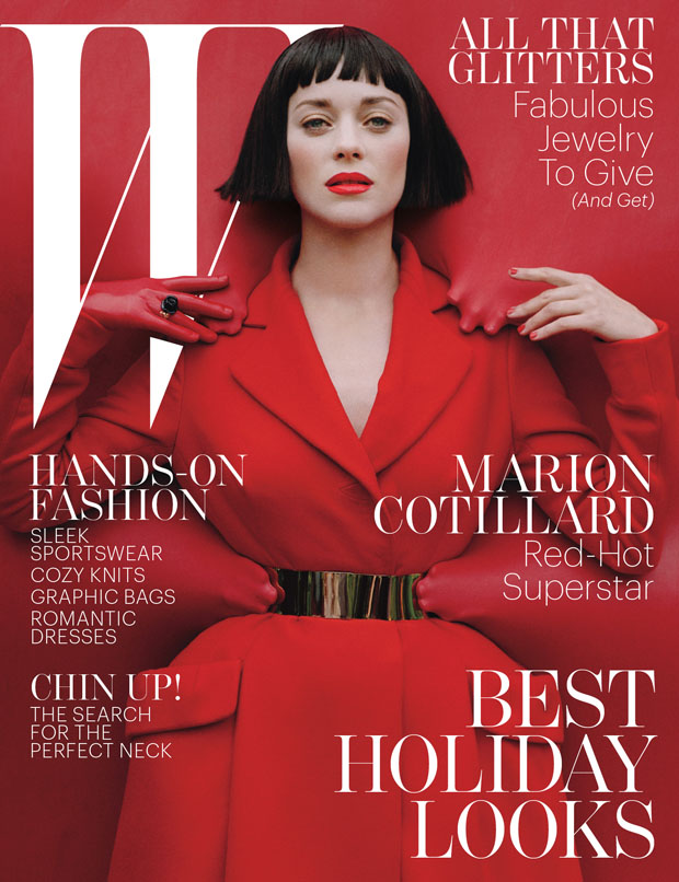Marion Cotillard  For W Magazine December 2012