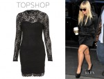 Demi Lovato's Topshop Lace High Neck Bodycon Dress
