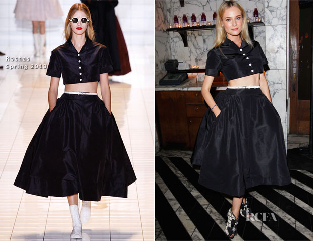 Diane Kruger In Rochas - The Hollywood Foreign Press Association And InStyle Miss Golden Globe 2013 Party