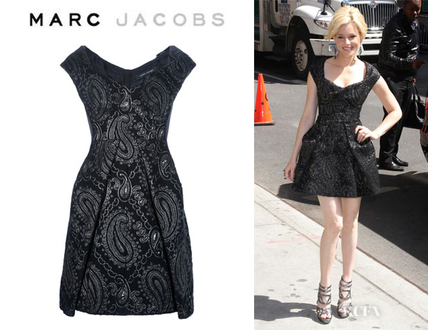 Elizabeth Banks' Marc Jacobs Paisley Embroidered Dress
