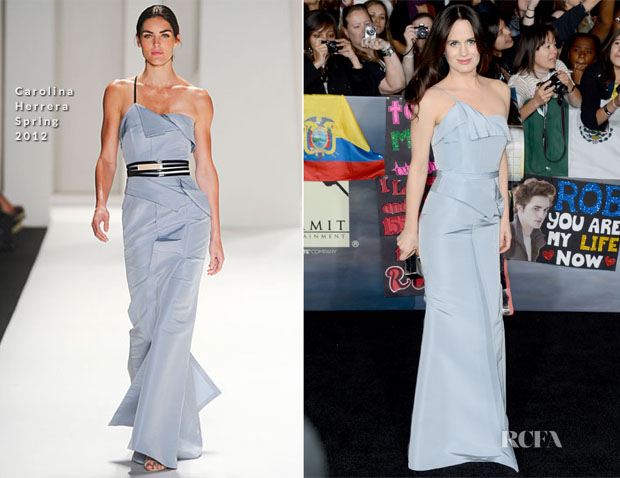 Elizabeth Reaser In Carolina Herrera - 'The Twilight Saga Breaking Dawn – Part 2' LA Premiere