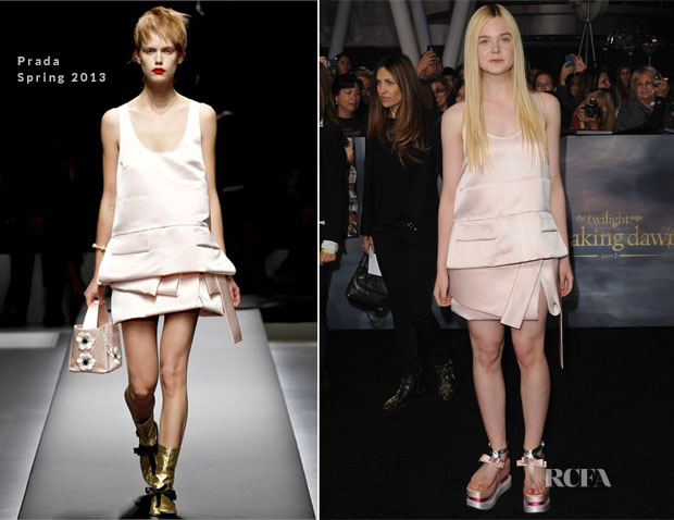 Elle Fanning In Prada - 'The Twilight Saga Breaking Dawn – Part 2 LA Premiere