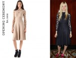 Elle Fanning's Opening Ceremony Lace Empire Maxi Dress