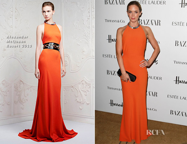Emily Blunt In Alexander McQueen - Harper's Bazaar Woman of the Year Awards