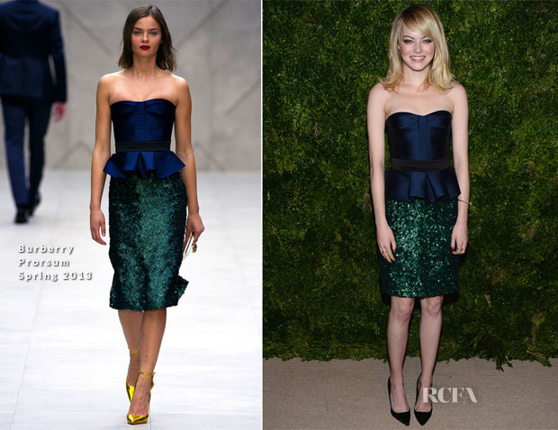 Emma Stone In Burberry Prorsum - 2012 CFDAVogue Fashion Fund Awards