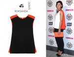 Emma Willis' Roksanda Ilincic Saunton Two Tone Top