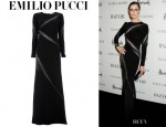 Erin O'Connor's Emilio Pucci Beaded Gown
