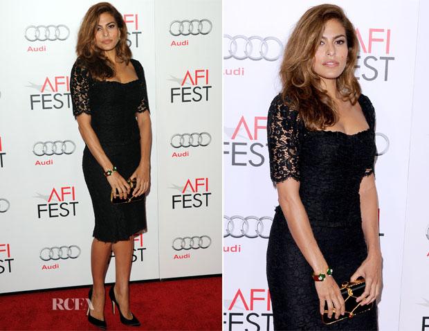 Eva Mendes In Dolce & Gabbana - 'Holy Motors' AFI Fest Premiere
