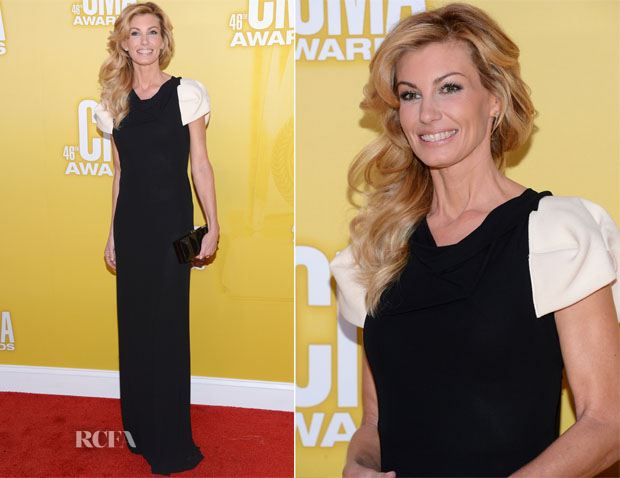 Faith Hill In Roland Mouret - 2012 CMA Awards