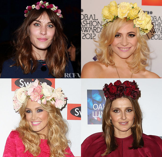 Celebrities Love Floral Crowns Red Carpet Fashion Awards