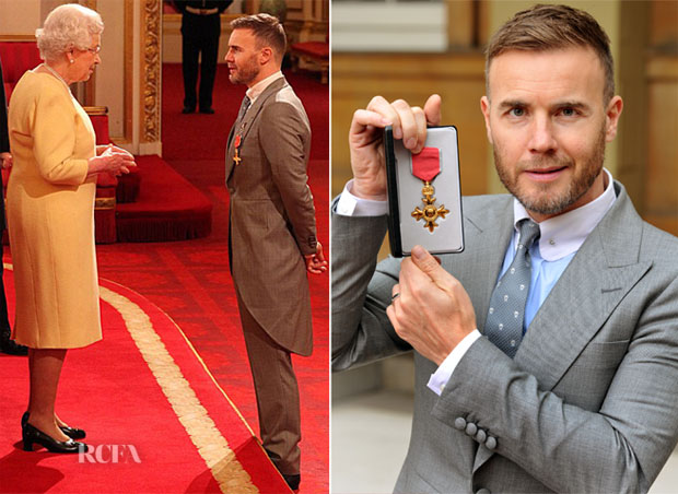 Gary Barlow In Gieves & Hawkes - Investiture Ceremony