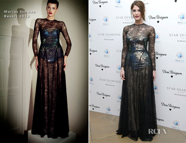 Gemma Arterton In Marios Schwab - PeaceEarth Foundation Fundraising Gala