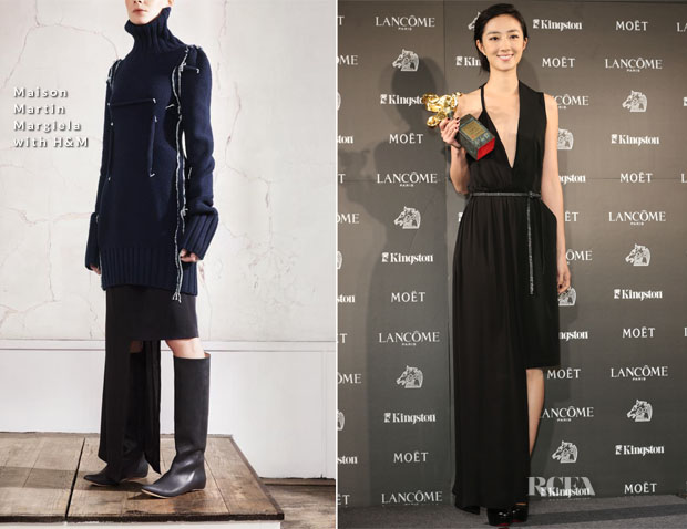 Gwai Lun-Mei In Maison Martin Margiela with H&M - 2012 Golden Horse Awards Press Room