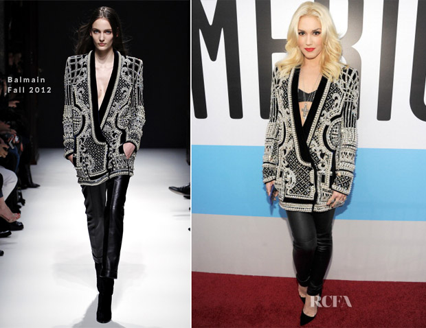 Gwen Stefani In Balmain - 2012 American Music Awards