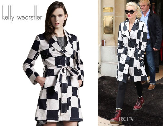 Gwen Stefani's Kelly Wearstler Noir Batik-Twill Trench Coat