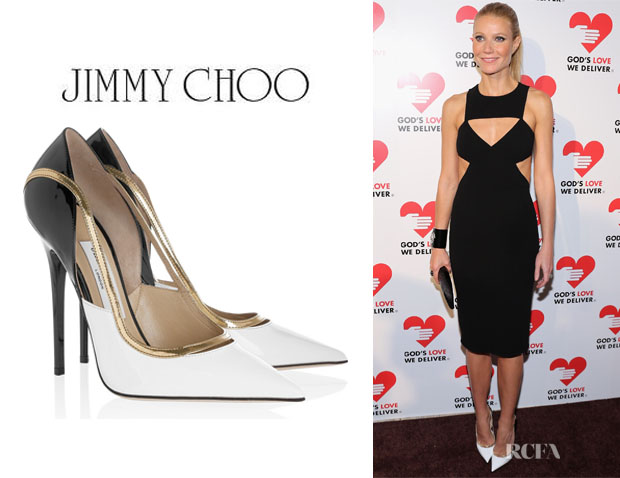 Gwyneth Paltrow's Jimmy Choo Vero Colourblock Patent Leather Pumps1