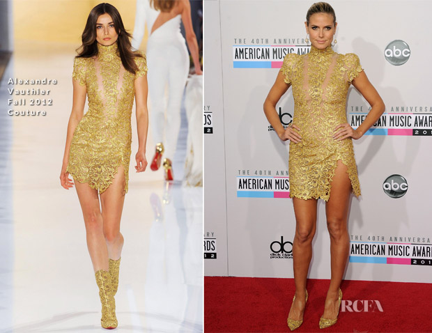Heidi Klum In Alexandre Vauthier Couture - 2012 American Music Awards