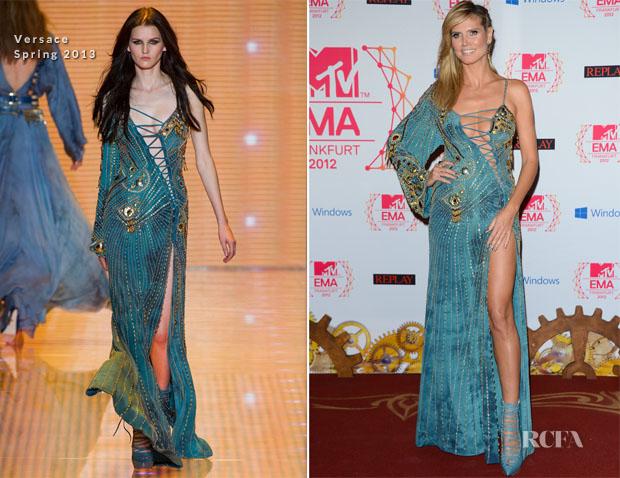 Heidi Klum In Versace - 2012 MTV EMAs