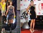 Heidi Klum In Versace - MTV EMA's 2012 Photocall