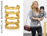 Hilary Duff's Aurélie Bidermann Esteban Gold Plated Cuff