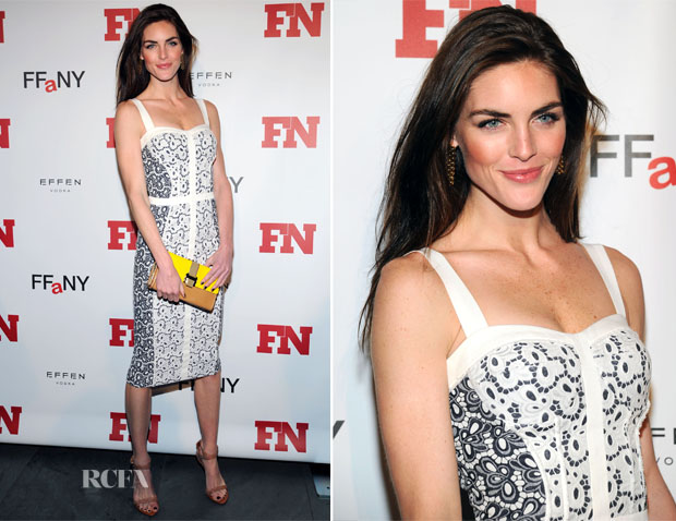 Hilary Rhoda In Rebeca Minkoff - 2012 Footwear News Achievement Awards