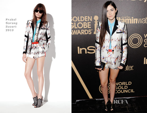 Isabelle Fuhrman In Prabal Gurung - The Hollywood Foreign Press Association And InStyle Miss Golden Globe 2013 Party
