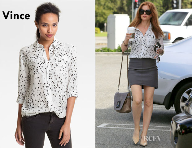 Isla Fisher's Two by Vince Camuto Bird Print Blouse