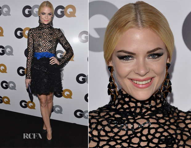 Jaime King In Oscar de la Renta - 2012 GQ Men of the Year Party