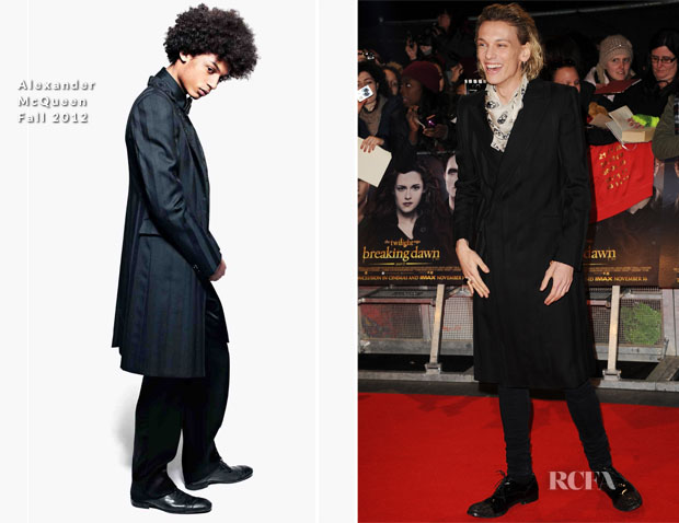 Jamie Campbell Bower In Alexander McQueen - 'The Twilight Saga Breaking Dawn – Part 2' London Premiere