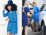 January Jones In Madewell - Out In LA