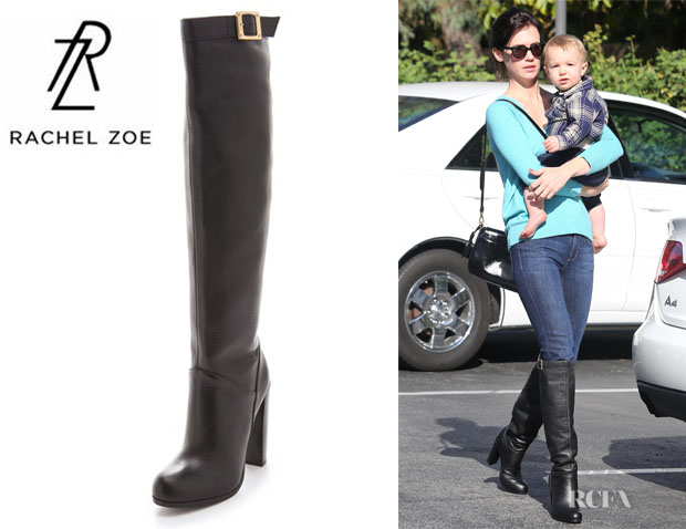 January Jones' Rachel Zoe Carmen Leather Knee High Boots
