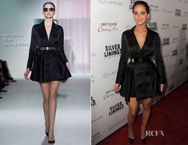 Jennifer Lawrence In Christian Dior - 'Silver Linings Playbook' LA Screening