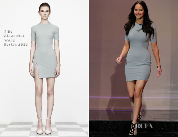 Jennifer Lawrence In T By Alexander Wang - The Tonight Show with Jay Leno