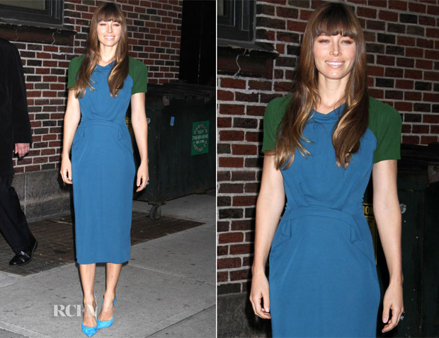 Jessica Biel In Roland Mouret - Late Show with David Letterman