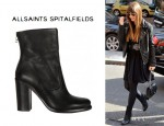 Jessica Biel's AllSaints High Hessian Mix Boots