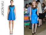 Jessica Chastain's Jason Wu Paneled Leather Dress