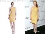 Jessica Chastain's Stella McCartney Lace Sheath Dress