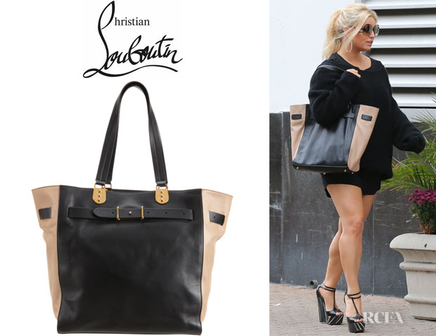 Jessica Simpson's Christian Louboutin Sybil Paris Leather Tote