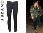 Jessica Szohr's J Brand's Minx Denim With Leather