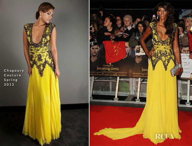 Judi Shekoni In Chagoury Couture - 'The Twilight Saga Breaking Dawn – Part 2' London Premiere