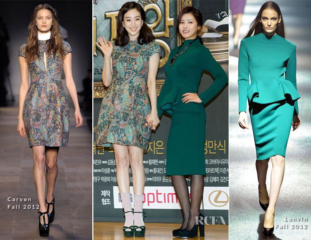 Jung Ryeo-Won In Carven & Oh Ji-Eun In Lanvin - 'The Lord Of The Drama' Photocall