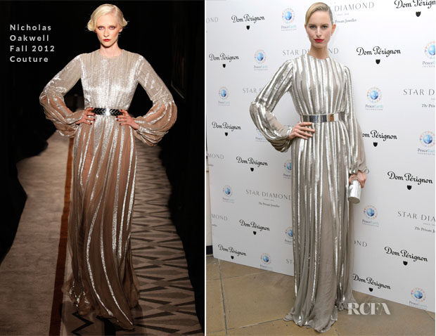 Karolina Kurkova In Nicholas Oakwell Couture - PeaceEarth Foundation Fundraising Gala