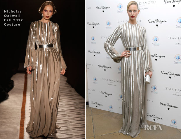 Karolina Kurkova In Nicholas Oakwell Fall 2012 Couture - PeaceEarth Foundation Fundraising Gala