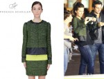 Kate Beckinsale's Proenza Schouler Metallic Tweed Jacket