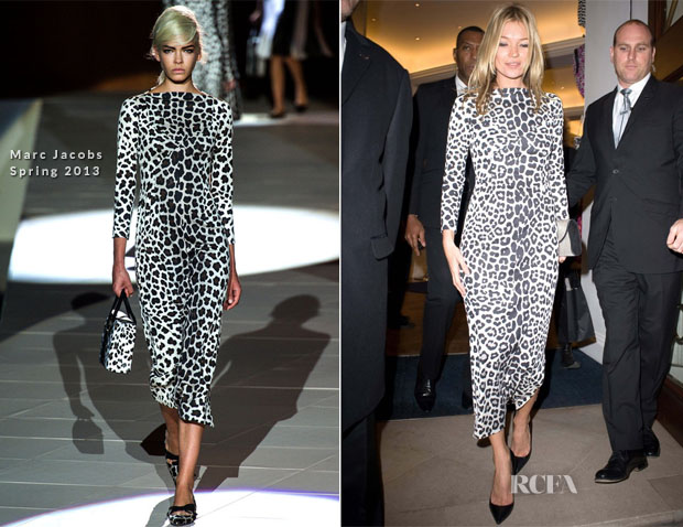 Kate Moss In Marc Jacobs - 'Kate The Kate Moss Book' Book Signing