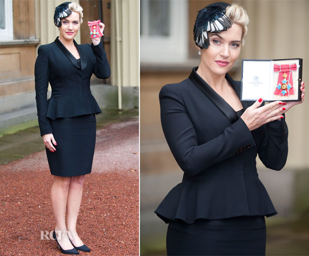Kate Winslet In Alexander McQueen - Investiture Ceremony
