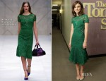 Keira Knightley In Burberry Prorsum -  The Tonight Show with Jay Leno