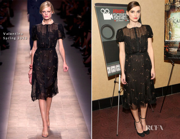 Keira Knightley In Valentino - 'Anna Karenina' 2012 Variety Screening Series